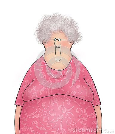 cartoon-happy-smiling-old-lady-senior-citizen-pink-dress-46821182